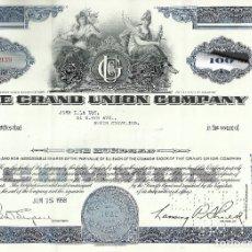Coleccionismo Acciones Extranjeras: 100 ACCIONES - GRAND UNION COMPANY - 1959. Lote 182829881