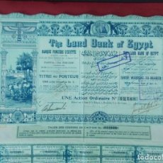Coleccionismo Acciones Extranjeras: ACCION - THE LAND BANK OF EGYPT , BANCO DE EGIPTO - AÑO 1905 .. L522. Lote 190083452