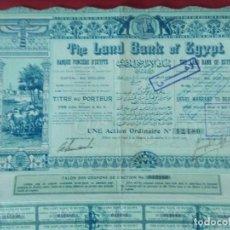 Coleccionismo Acciones Extranjeras: ACCION - THE LAND BANK OF EGYPT , BANCO DE EGIPTO - AÑO 1905 - .. L523. Lote 190083572