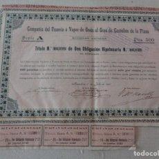 Coleccionismo Acciones Extranjeras: OBLIGACION TRANVIA A VAPOR DE ONDA AL GRAO DE CASTELLON AÑO 1891. Lote 190754516