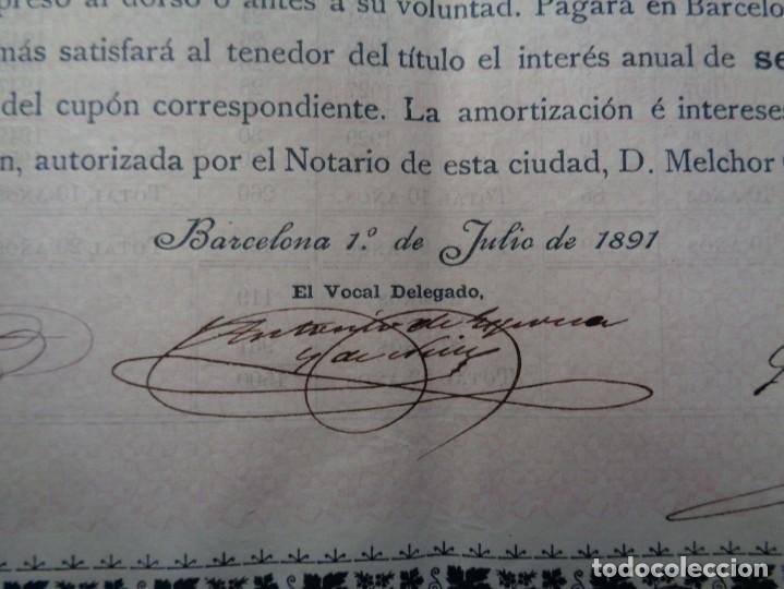 Coleccionismo Acciones Extranjeras: OBLIGACION TRANVIA A VAPOR DE ONDA AL GRAO DE CASTELLON AÑO 1891 - Foto 4 - 190754516