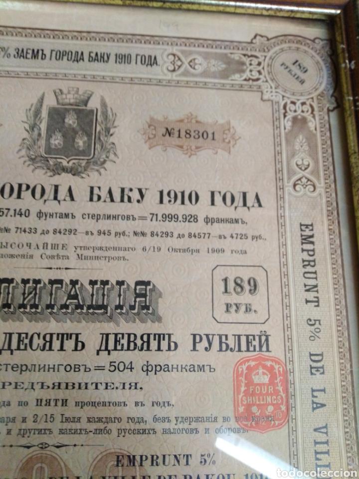 Coleccionismo Acciones Extranjeras: 4 ANTIGUAS ACCIONES RUSAS AÑOS 1894 -1896 - 1910 - Foto 6 - 193796872