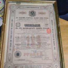 Coleccionismo Acciones Extranjeras: 4 ANTIGUAS ACCIONES RUSAS AÑOS 1894 -1896 - 1910. Lote 193796872