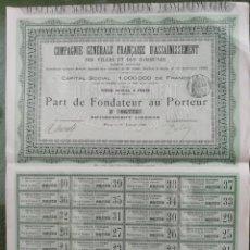 Coleccionismo Acciones Extranjeras: ACCION DE FRANCIA. Lote 194388641