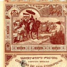Coleccionismo Acciones Extranjeras: CIA IMPERIALE DES CHEMINS DE FER ETHIOPIENS - ACCION 1899. Lote 201509700