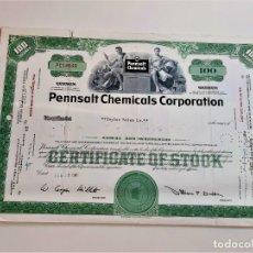 Coleccionismo Acciones Extranjeras: 1961 ACCION PENNSALT CHEMICALS CORPORATION. Lote 202495433