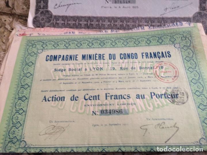 Coleccionismo Acciones Extranjeras: 9 acciones de minas 5 diferentes - Foto 4 - 196363263