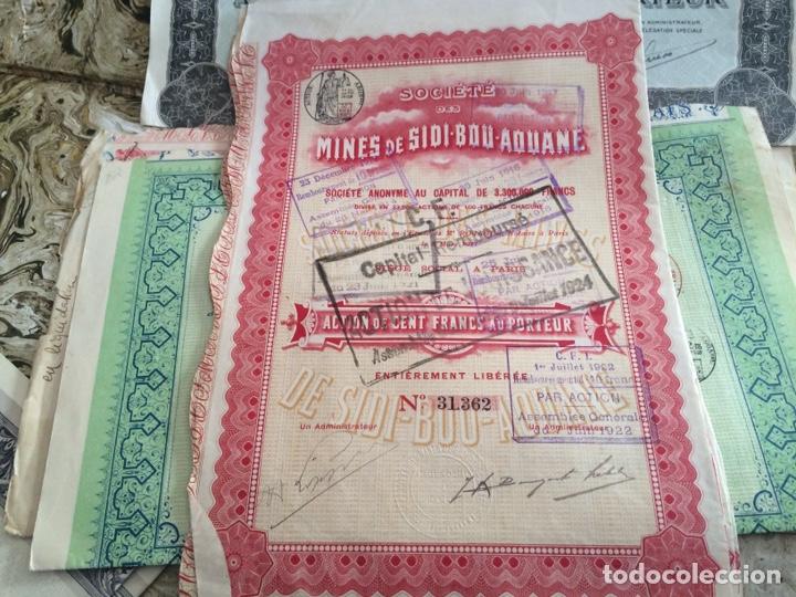 Coleccionismo Acciones Extranjeras: 9 acciones de minas 5 diferentes - Foto 5 - 196363263