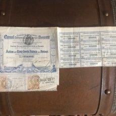 Coleccionismo Acciones Extranjeras: ACCIÓN CANAL INTEROCEANIQUE DE PANAMA 1886. Lote 205510950