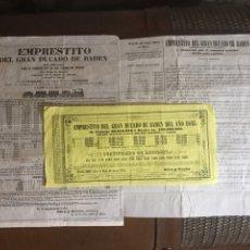 Coleccionismo Acciones Extranjeras: EMPRÉSTITO DEL GRAN DUCADO DE BADÉN 1845. Lote 205520063