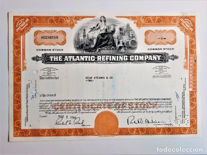 ACCION COMMON 1966 THE ATLANTIC REFINING COMPANY (Coleccionismo - Acciones Extranjeras )