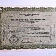 Coleccionismo Acciones Extranjeras: ACCION COMMON 1937 BOND STORES INCORPORATED. Lote 210148610