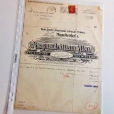 Coleccionismo Acciones Extranjeras: ACCION MANCHESTER 1941 BOUGHT OF WILLIAM ALLEN. Lote 210148942
