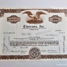Coleccionismo Acciones Extranjeras: ACCION COMMON 1970 CINERAMA INC.. Lote 210149185
