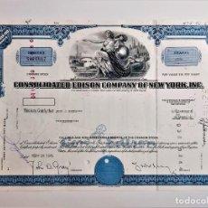 Coleccionismo Acciones Extranjeras: ACCION COMMON 1969 CONSOLIDATED EDISON COMPANY NEW YORK INC.. Lote 210149373