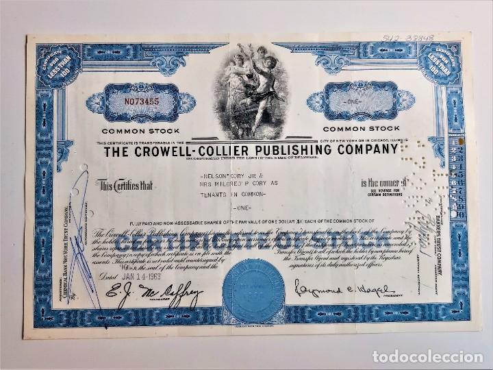 ACCION COMMON 1963 THE CROWELL - COLLIER PUBLISHING COMPANY (Coleccionismo - Acciones Internacionales)
