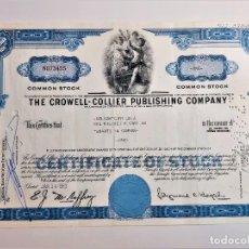 Coleccionismo Acciones Extranjeras: ACCION COMMON 1963 THE CROWELL - COLLIER PUBLISHING COMPANY. Lote 210149531