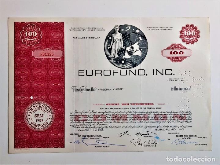 ACCION SHARES 1966 EUROFUND, INC (Coleccionismo - Acciones Internacionales)