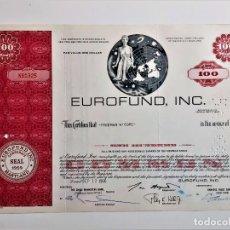 Coleccionismo Acciones Extranjeras: ACCION SHARES 1966 EUROFUND, INC. Lote 210149957