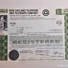Coleccionismo Acciones Extranjeras: ACCION 1974-2009 NEW ENGLAND TELEPHONE AND TELEGRAPH COMPANY. Lote 210150150