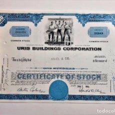 Coleccionismo Acciones Extranjeras: ACCION COMMON 1969 URIS BUILDINGS CORPORATION. Lote 210150323