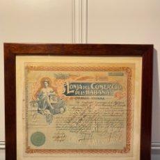 Coleccionismo Acciones Extranjeras: ACCIÓN LONJA DEL COMERCIO DE LA HABANA. Lote 210518325