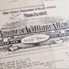 Coleccionismo Acciones Extranjeras: ACCION PORT STREET MACHINERY & PULLEY STORES 1941 MANCHESTER CON SELLO STAMP. Lote 221741126