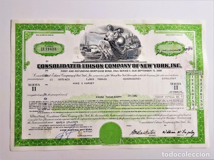 1975 ACCION CONSOLIDATED EDISON COMPANY OF NEW YORK, INC (Coleccionismo - Acciones Extranjeras )