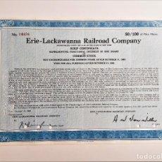 Coleccionismo Acciones Extranjeras: 1966 ACCION ERIE - LACKAWANNA RAILROAD COMPANY. Lote 212090618