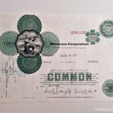 Collezionismo Azioni Internazionali: ACCION COMMON 1970 WESTVACO CORPORATION. Lote 212090968