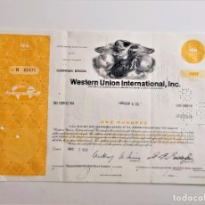 Collezionismo Azioni Internazionali: ACCION WESTERN UNION INTERNATIONAL, INC 1969. Lote 212091263