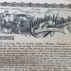 Coleccionismo Acciones Extranjeras: ACCION MATADERO INDUSTRIAL BONO HIPOTECARIO 1910 HABANA CUBA ORIGINAL , K. Lote 212245388