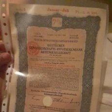 Coleccionismo Acciones Extranjeras: ALEMANIA. GOLD HYPOTHEKENPFANDBRIEF 1926. DEUTSCHE GENOSSENSCHAFTS-HYPOTHEKENBANK. Lote 217751087
