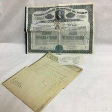 Coleccionismo Acciones Extranjeras: ACCIÓN FERROCARRILES NACIONALES DE MEXICO 1910, CONSULTA DE VALOR. Lote 218147812