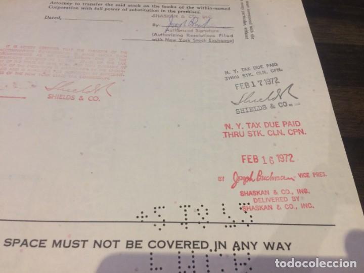 Coleccionismo Acciones Extranjeras: ACCIONES ECKMAR CORPORATION - 100 ACCIONES DEL AÑO 1972 - Foto 6 - 224791953
