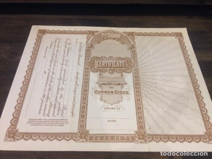 Coleccionismo Acciones Extranjeras: ACCIONES UNIVERSITY NATIONAL LIFE INSURANCE COMPANY - 52 ACCIONES DEL AÑO 1981- CANCELADAS - Foto 6 - 224792225