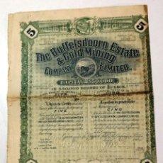 Coleccionismo Acciones Extranjeras: THE BUFFELSDOORN ESTATE & GOLD MINING (SUDÁFRICA REINO UNIDO). Lote 235161925