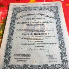 Coleccionismo Acciones Extranjeras: ANTIGUO BONO O ACCIÓN ALEMANA. Lote 235995115