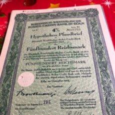 Coleccionismo Acciones Extranjeras: ANTIGUO BONO O ACCIÓN ALEMANA. Lote 235996345