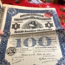 Coleccionismo Acciones Extranjeras: ANTIGUA ACCIÓN BANCO HIPOTECARIO, MÉJICO. Lote 236001460