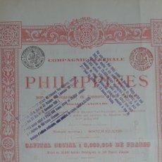 Collectionnisme Actions Internationales: COMPAÑIA GENERAL DE FILIPINAS PARA EL DESAROLLO DEL COMERCIO Y DE LA INDUSTRIA (1899). Lote 238594835