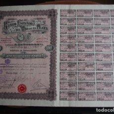 Coleccionismo Acciones Extranjeras: ACCIÓN BANCO ESPAÑOL DEL RIO DE LA PLATA - 1924 - BUENOS AIRES. Lote 242260110