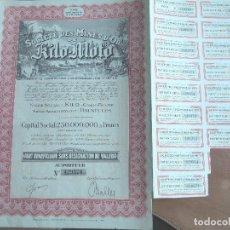 Coleccionismo Acciones Extranjeras: ACCIÓN SOCIÉTÉ DES MINES D'OR DE KILO-MOTO ( CONGO BELGA ) 1944 MINAS ORO. Lote 242974645