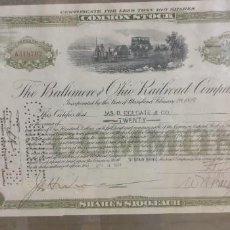 Coleccionismo Acciones Extranjeras: ACCION AMERICANA AÑO 1938 THE BALTIMORE OHIO RAILROAD COMPANY. Lote 243525810