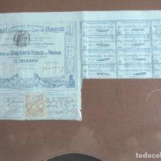 Coleccionismo Acciones Extranjeras: ACCIÓN COMPAGNIE UNIVERSELLE DU CANAL INTEROCÉANIQUE DE PANAMA 1886 INFRAESTRUCTURAS LESSEPS. Lote 243774965