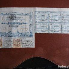Coleccionismo Acciones Extranjeras: ACCIÓN COMPAGNIE UNIVERSELLE DU CANAL INTEROCÉANIQUE DE PANAMA 1886 INFRAESTRUCTURAS LESSEPS. Lote 244820230