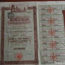Coleccionismo Acciones Extranjeras: ACCIÓN COMPAGNIE BORDELAISE DES COMPTOIRS AFRICAINS 1920 AFRICA BORDEAUX BURDEOS. Lote 245565055