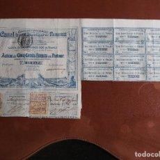 Coleccionismo Acciones Extranjeras: ACCIÓN COMPAGNIE UNIVERSELLE DU CANAL INTEROCÉANIQUE DE PANAMA 1880. Lote 245569545