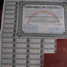 Coleccionismo Acciones Extranjeras: ACCIÓN FERROCARRILES DE CATALUÑA 1968. Lote 247486765