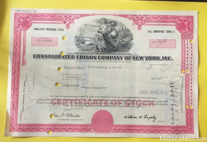 BONO COMPRA ACCIONES AÑO 1975 AMERICA (Coleccionismo - Acciones Internacionales)